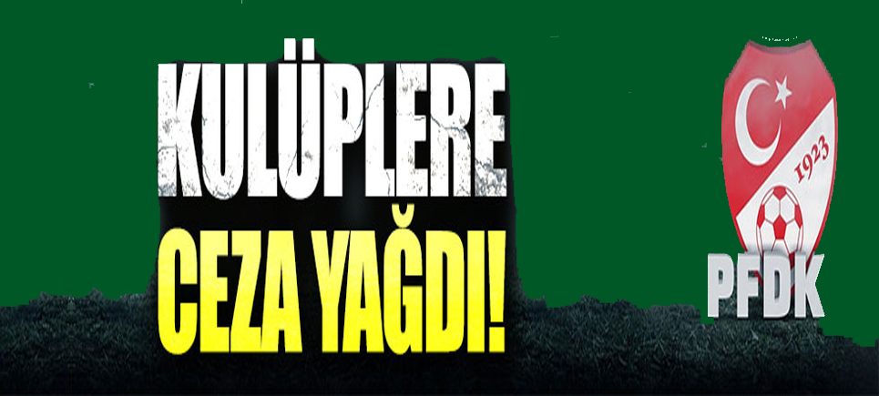 PFDK'dan 6 Süper Lig kulübüne ceza