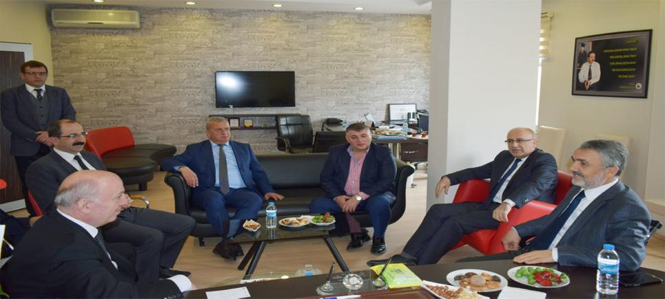 OMÜ REktrü Said Bilgiç, Samsun Ticaret Borsası'nı Ziyaret Etti
