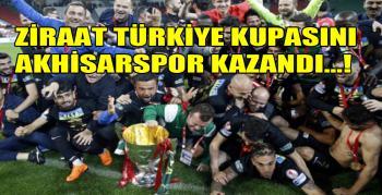 Akhisarspor kupasına kavuştu