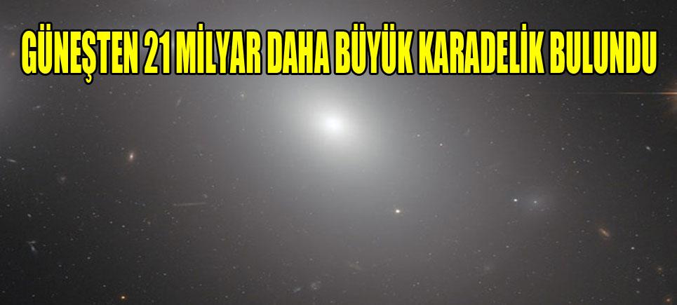 Güneş'ten 21 milyar kat büyük 'karadelik' keşfedildi
