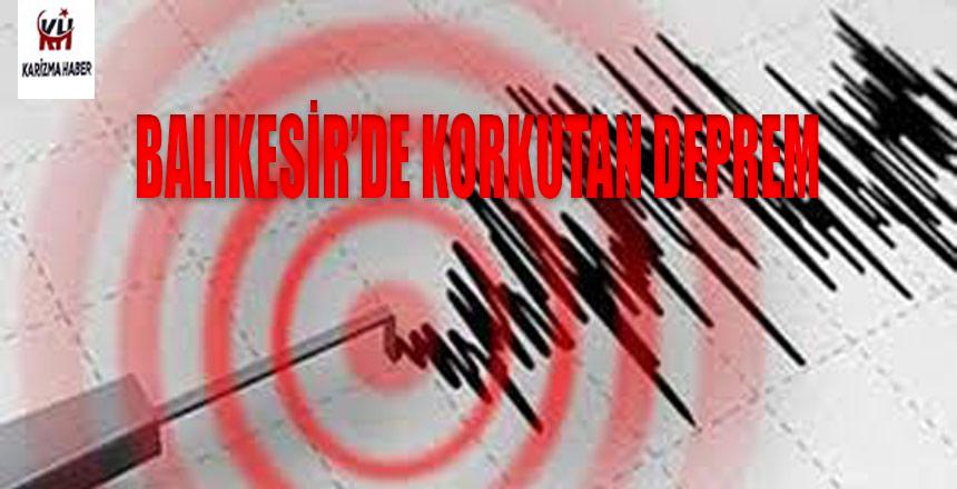 Balıkesir'de 4.6 büyüklüğünde deprem