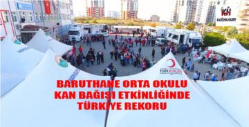BARUTHANE ORTA OKULU'NDAN YENİ BİR TÜRKİYE REKORU!