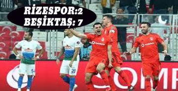 Beşiktaş, Rize'de Gol Oldu Yağdı!