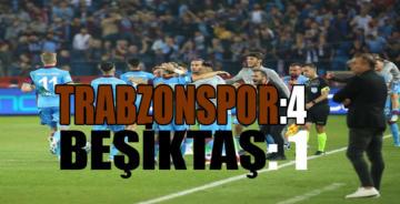Trabzon'da Beşiktaş bozguna uğradı 4-1