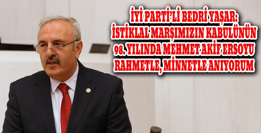 """Bedri Yaşar: """"İstiklal Marşı, Türk Milletinin Bağımsızlık Sevdasıdır"""""""