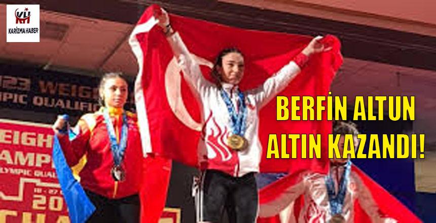 Genç halterci Berfin Altun Avrupa şampiyonu