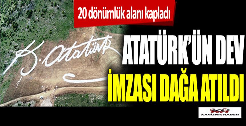 Bursa'nın Gemlik İlçesi'nde Atatürk'ün Dev İmzası Dağa Yazıldı