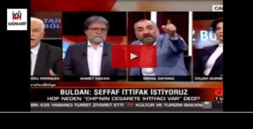 CNN Türk'teki İsmail Saymaz – Doğu Perinçek kavgası gündem oldu!