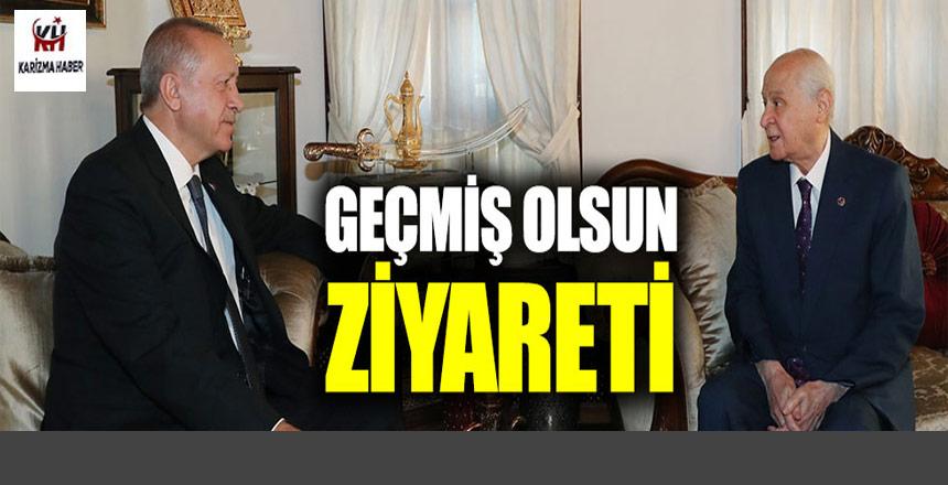 Erdoğan'dan Bahçeli'ye geçmiş olsun ziyareti