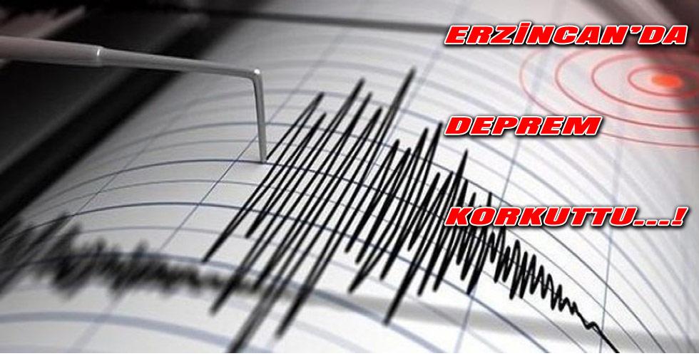 Erzincan'da 1 saat arayla iki deprem meydana geldi