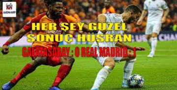 Olmadı! Olmadı! Olmadı! Galatasaray:0 Real Madrid:1