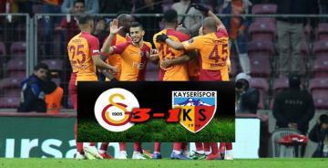 Galatasaray, evinde rahat kazandı!