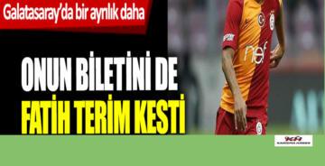 Galatasaray'da bir ayrılık daha! Biletini de Fatih Terim kesti