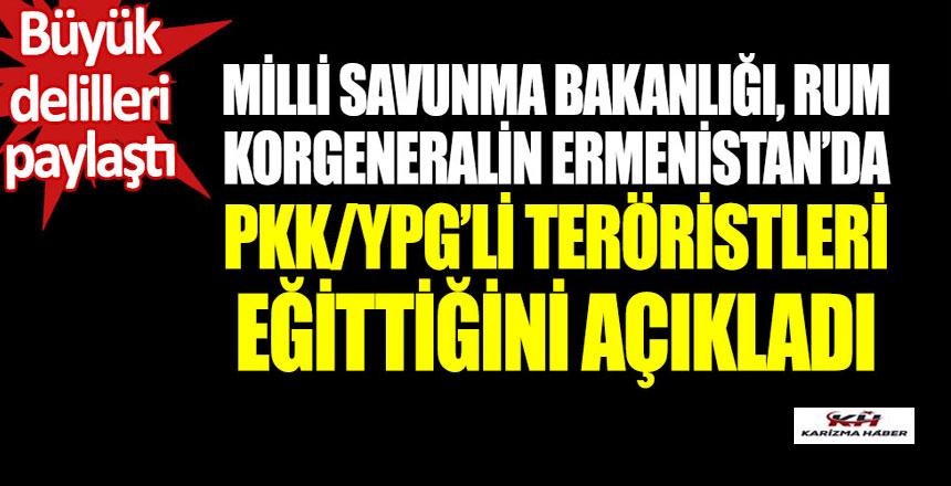 MSB Ermenistan'da PKK/YPG'li teröristlerin eğitildiğini açıkladı.
