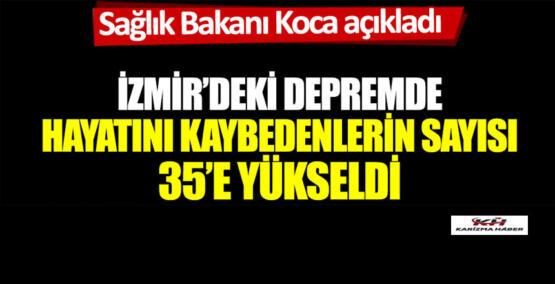 İzmir'deki depremde can kaybı artıyor.Sağlık Bakanı Koca açıkladı