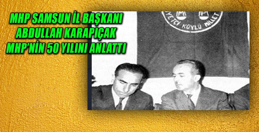 MHP Samsun İl Başkanı Abdullah Karapıçak'ın Basın Açıklaması