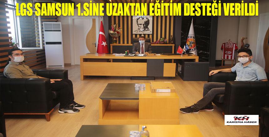 Başkan Cemil Deveci'den LGS Samsun 1.sine uzaktan eğitim desteği