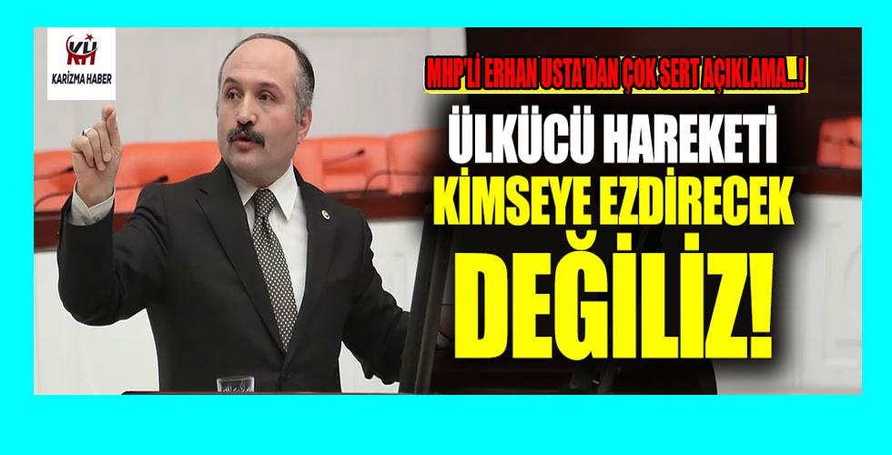 MHP'de disipline sevk edilen Erhan Usta'dan yeni açıklama