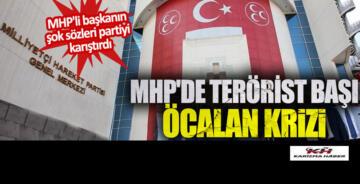 MHP'de terörist başı Öcalan krizi. MHP'li başkanın şok sözleri..!