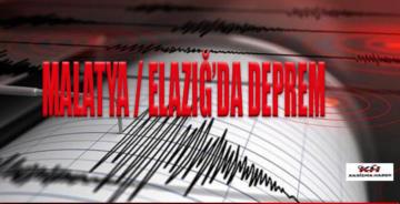 Elazığ'da art arda korkutan depremler!
