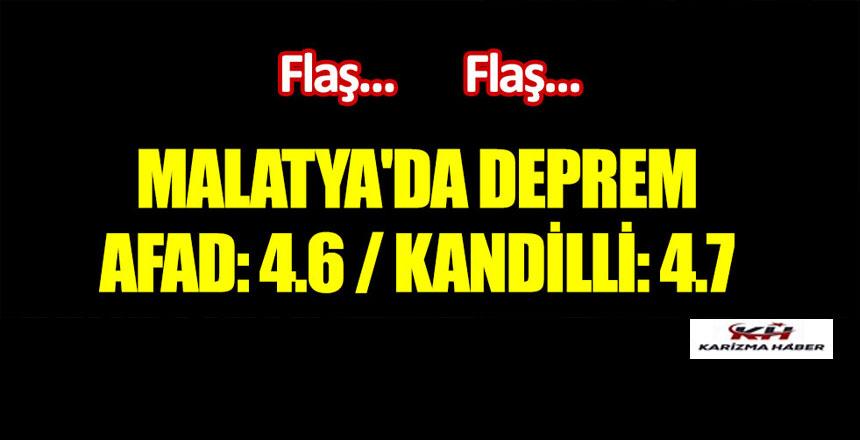 "Malatya'da deprem: AFAD ""4.6"", Kandilli ""4.7"" dedi"
