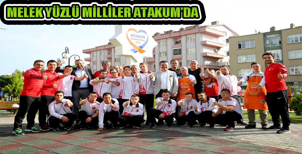 Melek yüzlü milliler Atakum'da Başkan Taşçı'ya şampiyonluk sözü