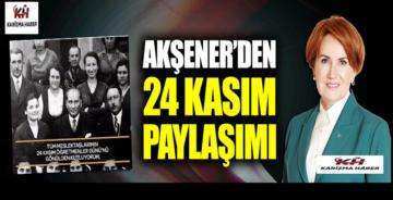Meral Akşener'den 24 Kasım Öğretmenler Günü paylaşımı