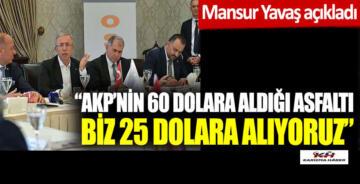 Yavaş:AK Parti'nin 60 dolara aldığı asfaltı biz 25 dolara alıyoruz