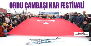 ÇAMBAŞI'NDA KAR FESTİVALİ