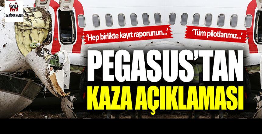Pegasus Hava Yolları'ndan kaza açıklaması