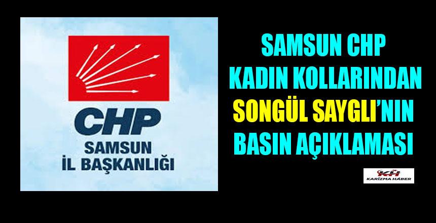 Samsun CHP Kadın Kollarından Basın Açıklaması