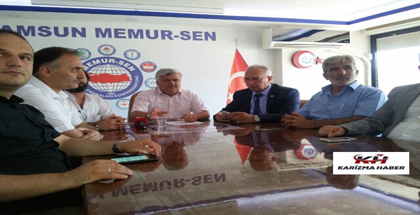 Samsun Memur-Sen Toplu Sözleşme basın açıklaması