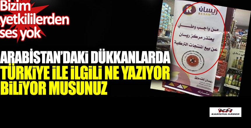 Suudiler,Türkiye'ye boykot diyor, Bizim yetkililerden ses yok!