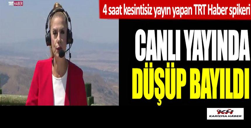 TRT Haber spikeri Nilgün Balkaç canlı yayında düşüp bayıldı