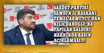 Saadet Partisi Samsun İl Başkanı Temel Armutçu'nun Basın Açıklaması