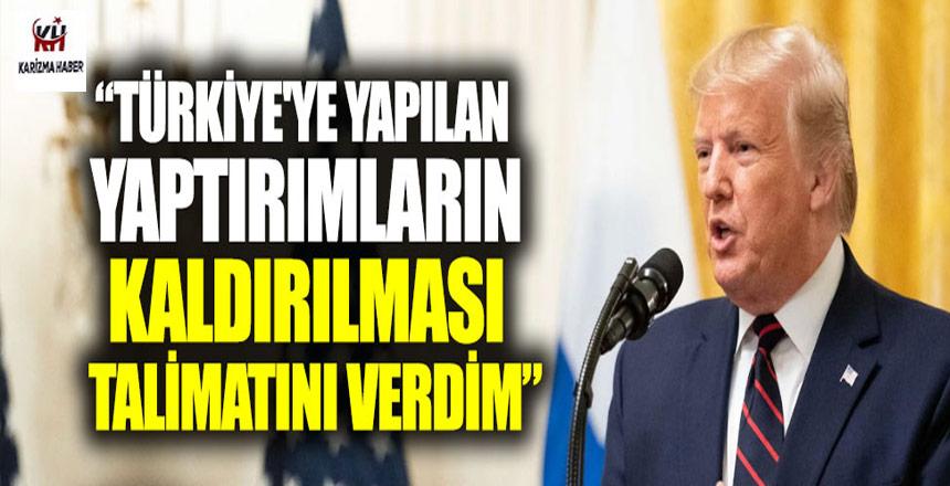 Trump,Türkiye'ye yaptırımı kaldırdım diyor, Temsilci hayır diyor!