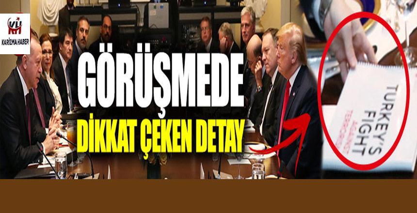 Erdoğan-Trump görüşmesinde ilginç bir detay görüntü!