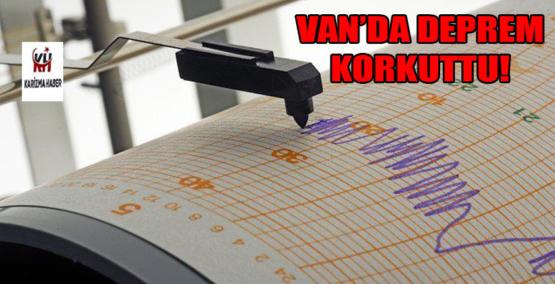 Van'da 3.4 şiddetinde deprem!