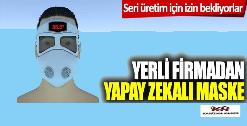 Yerli firmadan yapay zekalı maske