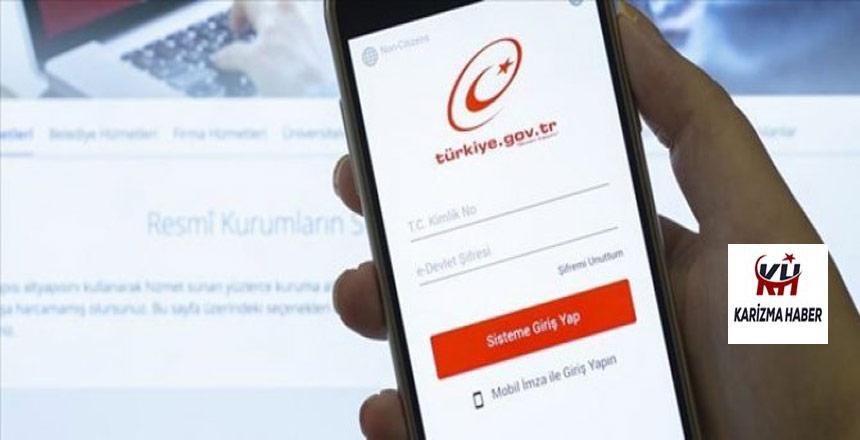 e-Devlet'te yeni uygulama