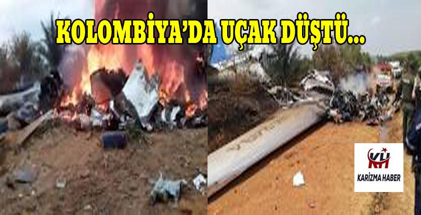 Kolombiya'da uçak kazası, 12 kişi hayatını kaybetti